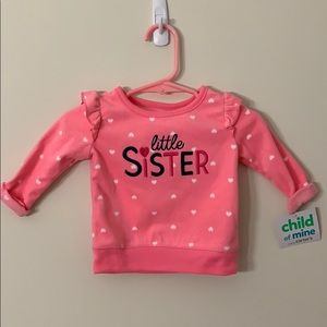 Carter's baby Girl Top with Embroidery 0-3 Months